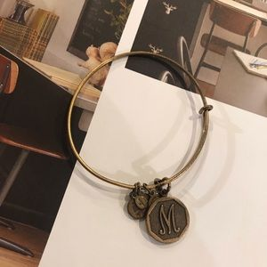 "Alex & Ani Bronze ""M"" Bangle Bracelet"